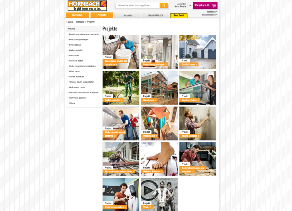Content Marketing Hornbach